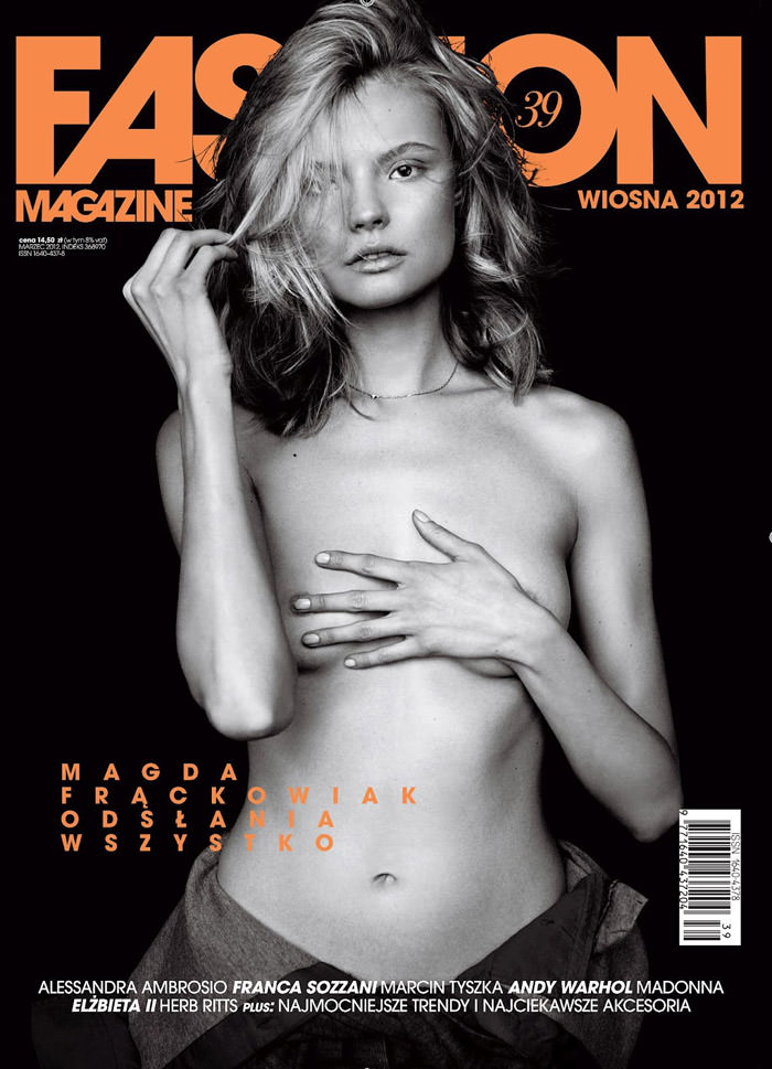 Magdalena Frackowiak by Magdalena Luniewska for Fashion Poland #39, Spring 2012