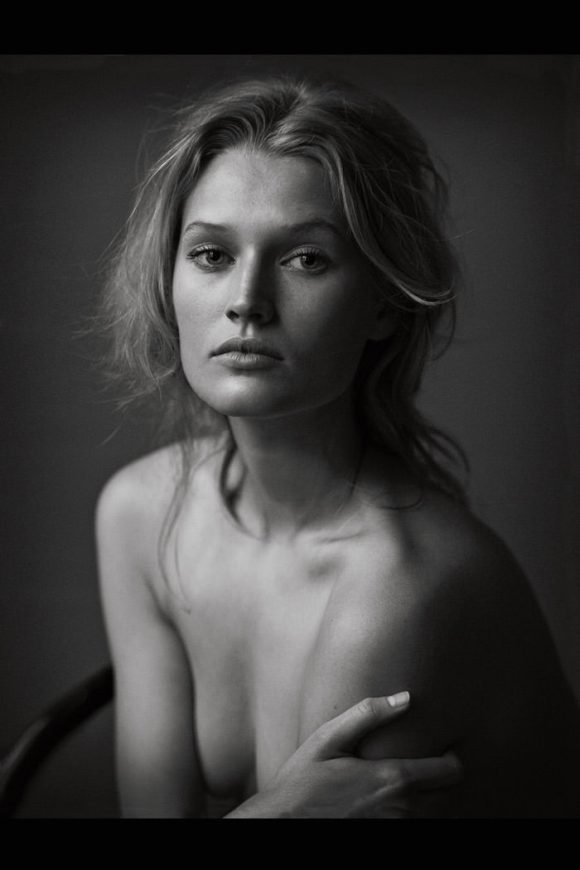 Toni Garrn by Peter Lindbergh for Vogue Germany