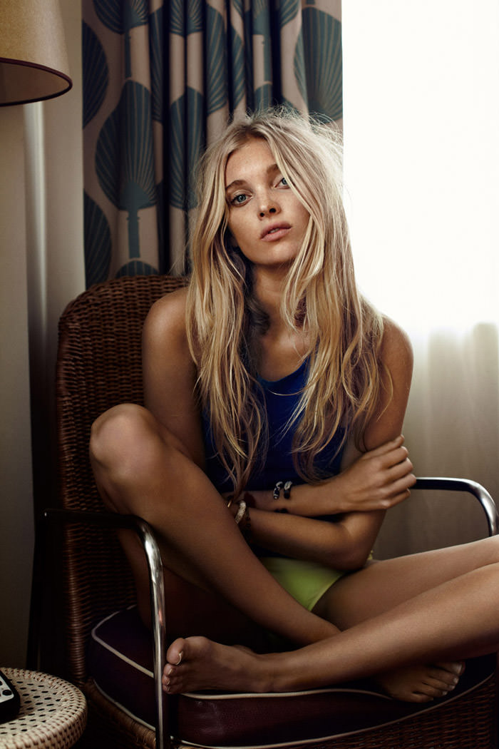 Elsa Hosk photographed by Eric Josjö for Elle Norway, June 2012