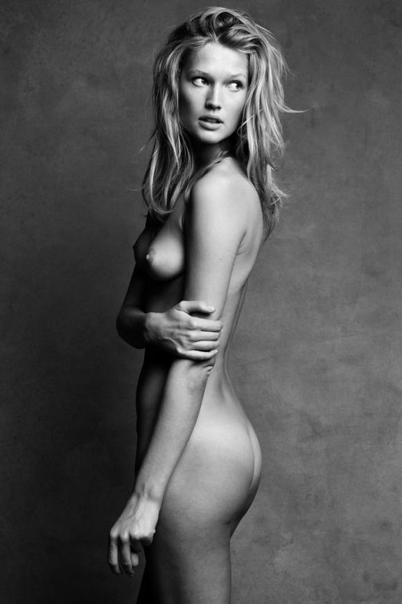 Toni Garrn (topless / semi-nude) by Patrick Demarchelier and Victor Demarchelier