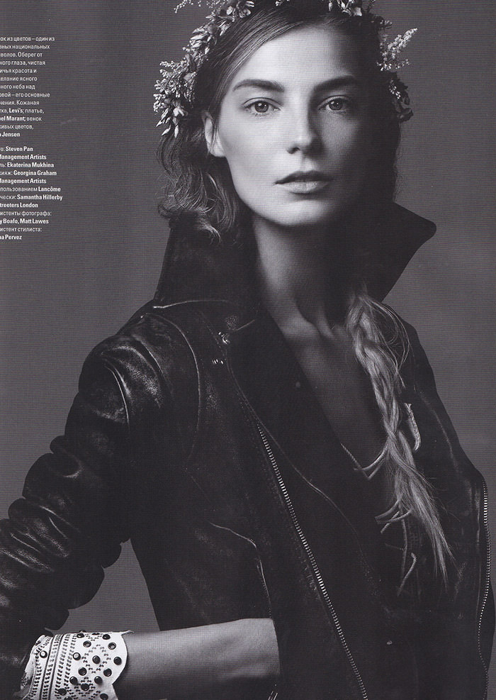 Daria Werbowy photographed by Steven Pan for Vogue Ukraine, March 2013