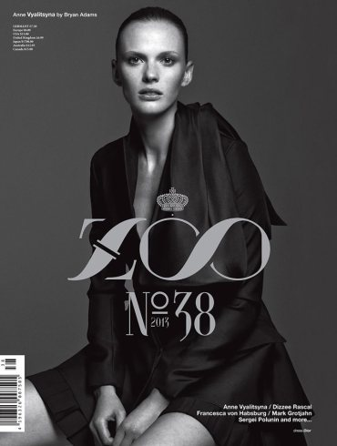 Anne Vyalitsyna by Bryan Adams for Zoo Magazine