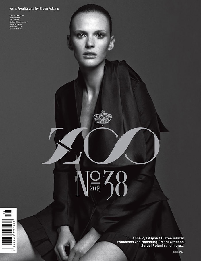 Anne Vyalitsyna by Bryan Adams for Zoo Magazine
