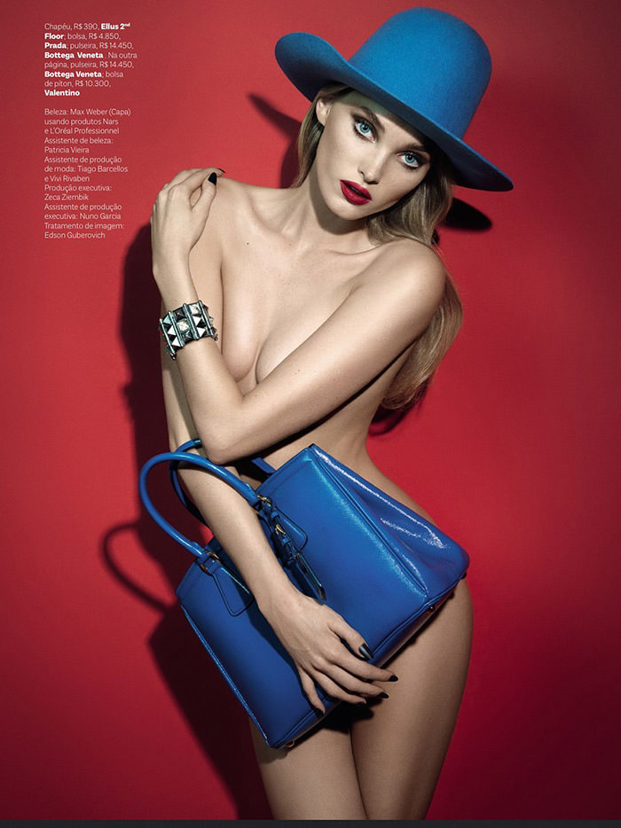Elsa Hosk photographed by Henrique Gendre for Vogue Brasil, May 2013