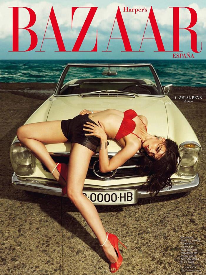 Crystal Renn covers Harper's Bazaar España