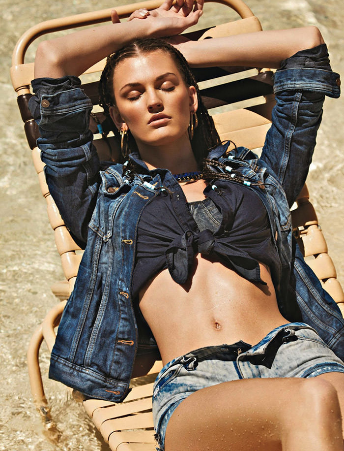 Ali Stephens by Daniel Riera for Glamour France