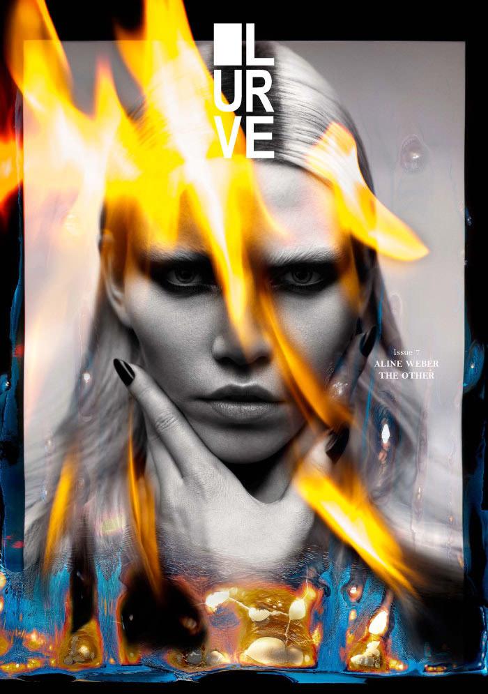 Aline Weber covers Lurve Magazine
