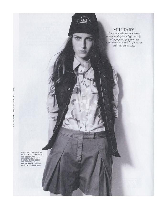Julia Bergshoeff by Jasper Abels for Elle Netherlands