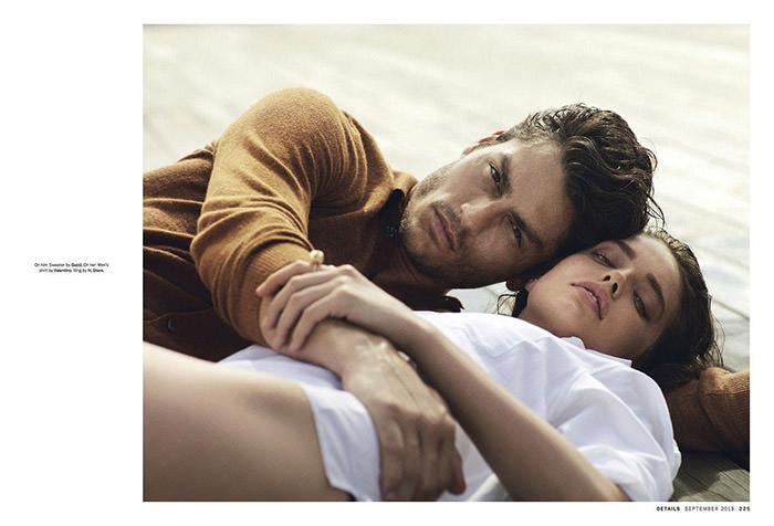Emily DiDonato and Tyson Ballou by John Balsom for Details Magazine