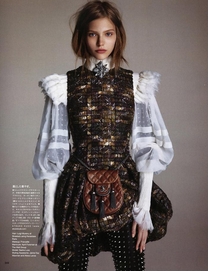Sasha Luss photographed by Daniele & Iango for Vogue Japan, October 2013