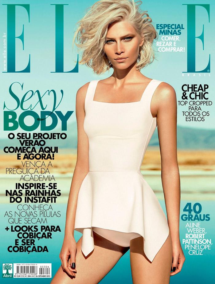 Aline Weber covers Elle Brazil