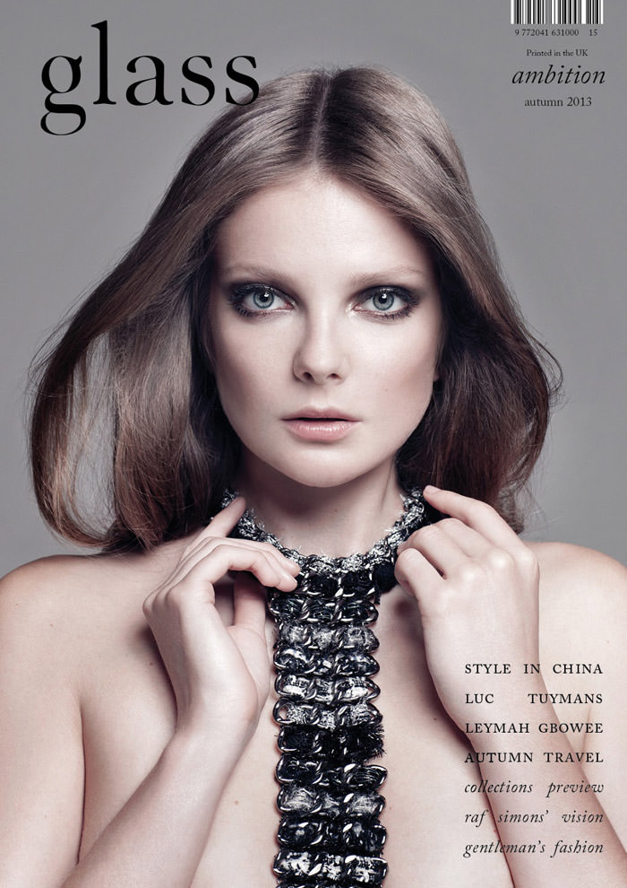 Eniko Mihalik covers Glass Magazine