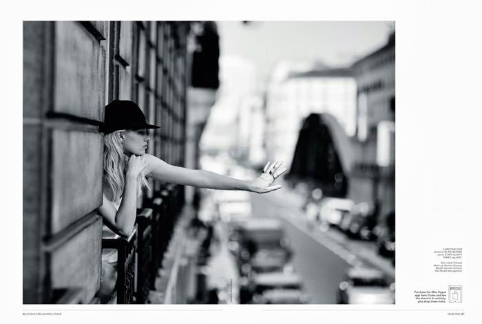Hannah Holman by Darren McDonald for Miss Vogue Australia