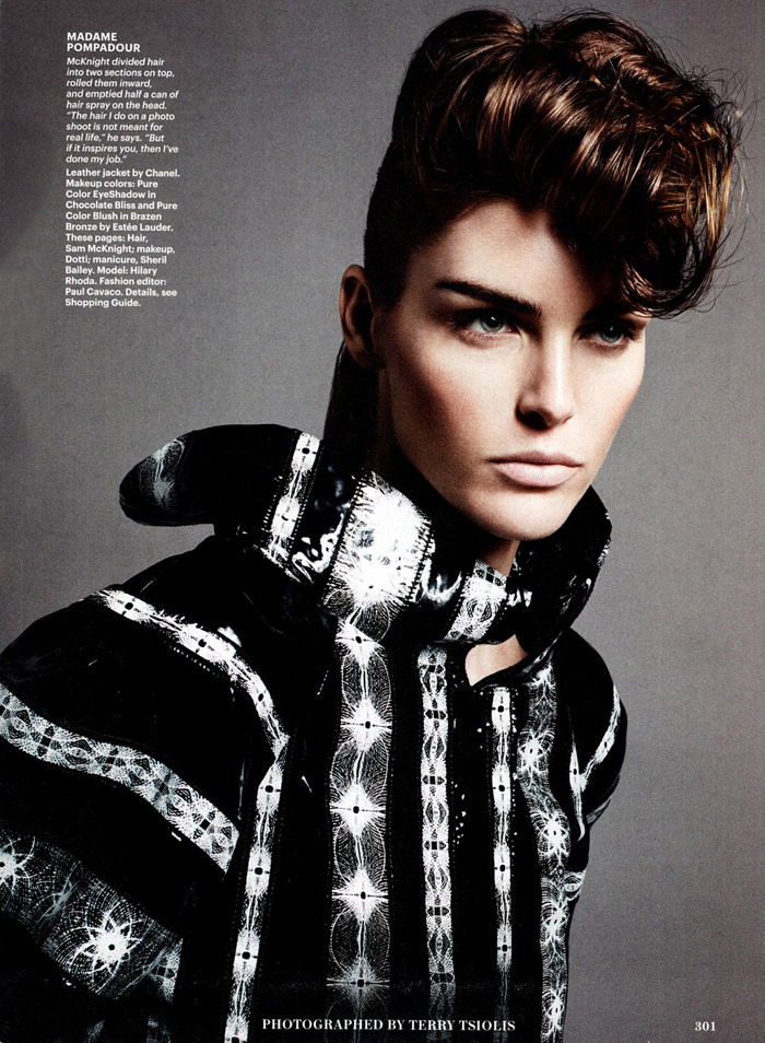 Hilary Rhoda by Terry Tsiolis for Allure
