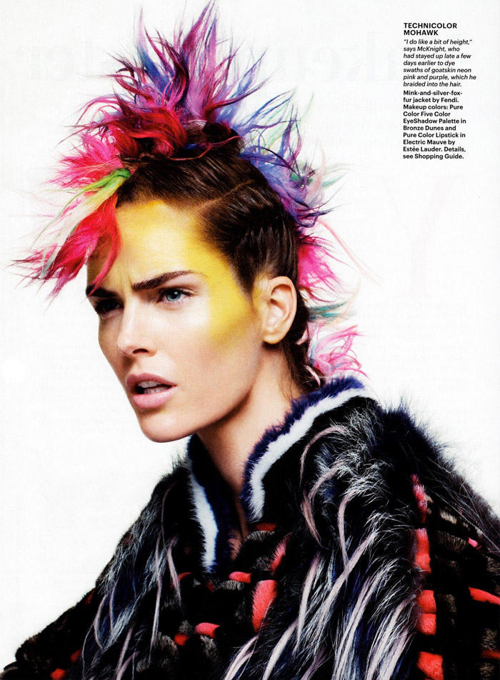 Hilary Rhoda photographed by Terry Tsiolis for Allure, October 2013
