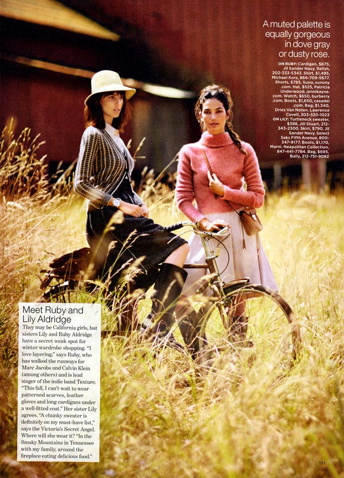 Lily Aldridge and Ruby Aldridge by Lawren Howell for Lucky Magazine