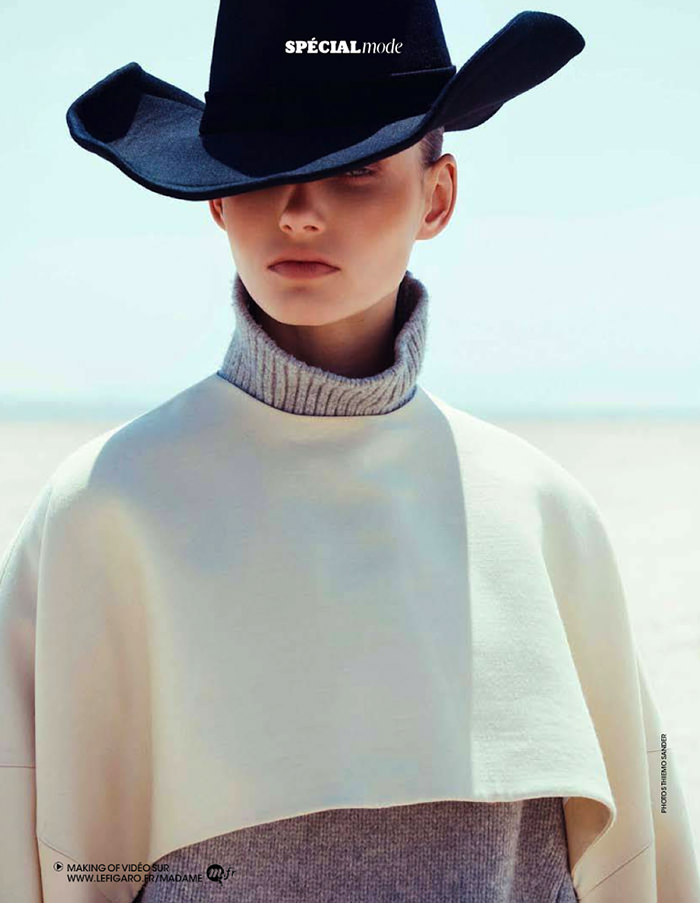 Giedre Dukauskaite by Thiemo Sander for Madame Figaro