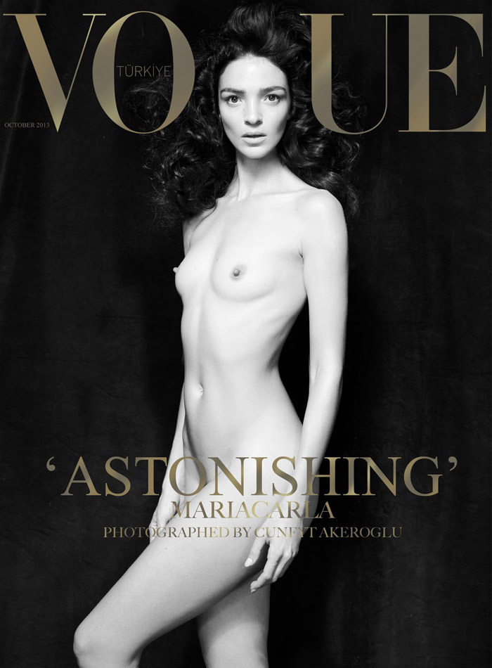 Mariacarla Boscono covers Vogue Turkey