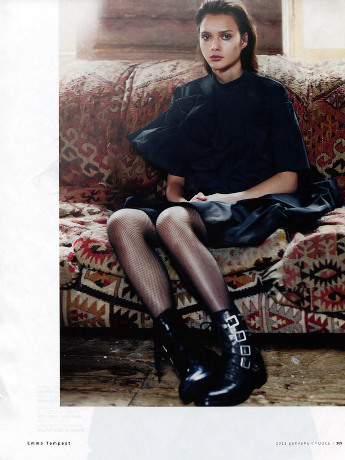 Anna Kupriienko & Sonya Kupriienko by Emma Tempest for Vogue Russia