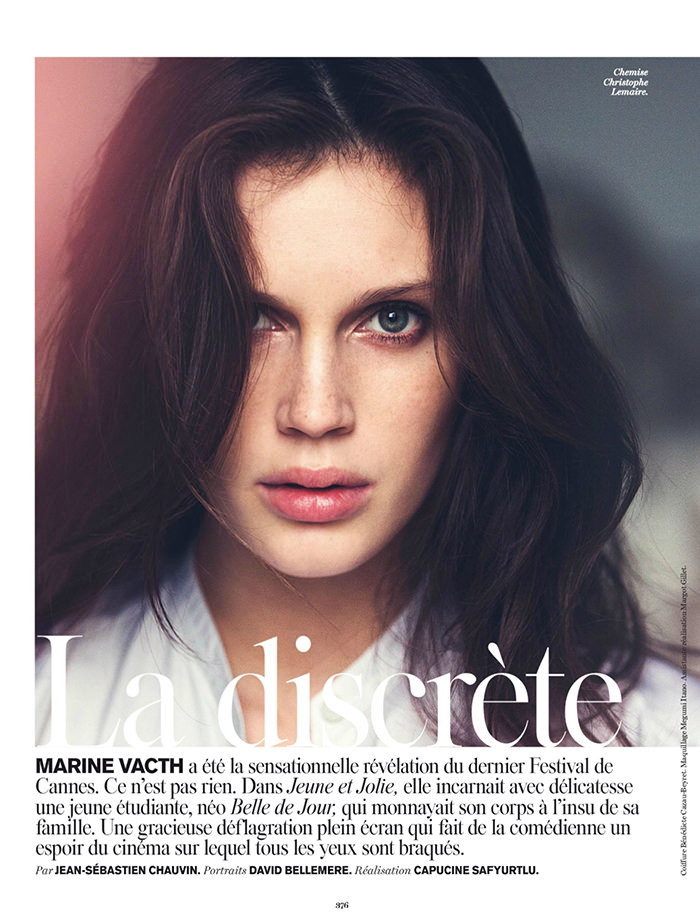 Marine Vacth by David Bellemere for Vogue Paris