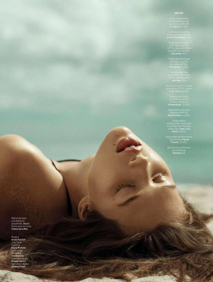 Anais Pouliot photographed by Hannah Khymych for L'officiel Paris, June & July 2014