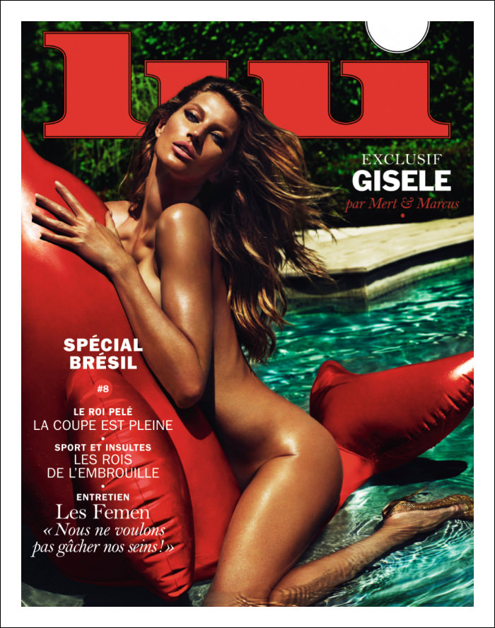 Gisele Bundchen covers Lui Magazine