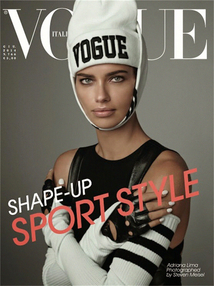 Adriana Lima covers Vogue Italy