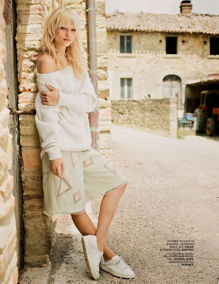 Hana Jirickova by David Mushegain for Vogue Russia