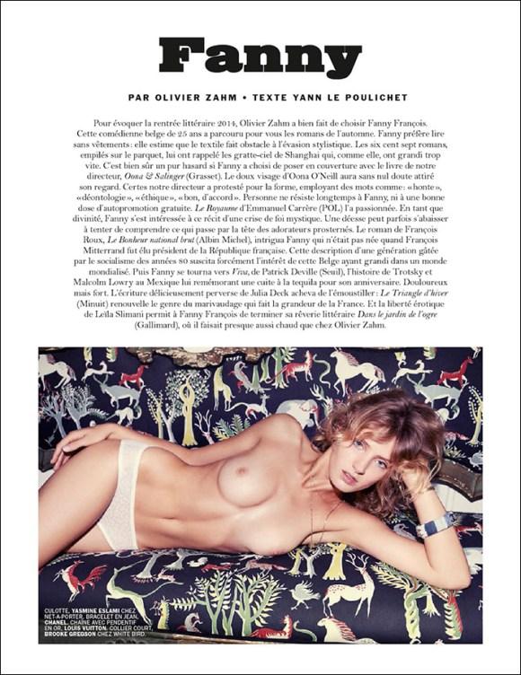Fanny Francois by Olivier Zahm for Lui Magazine
