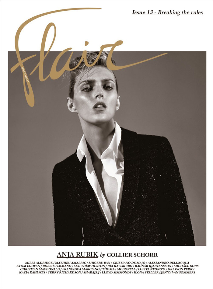 Anja Rubik covers Flair Magazine