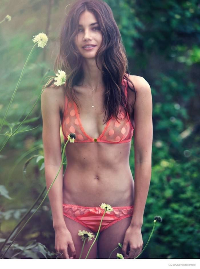 Lily Aldridge photographed by David Bellemere for GQ UK, November 2014