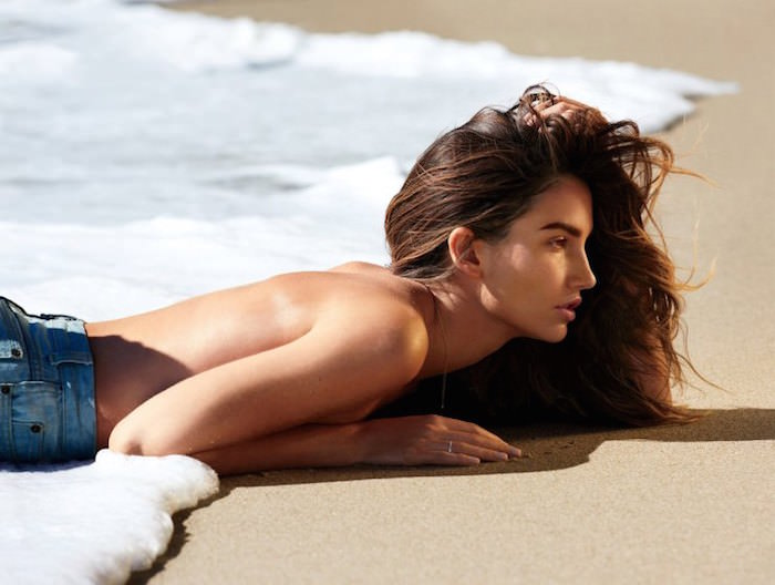 Lily Aldridge photographed by Gilles Benison for Maxim Magazine, April 2015