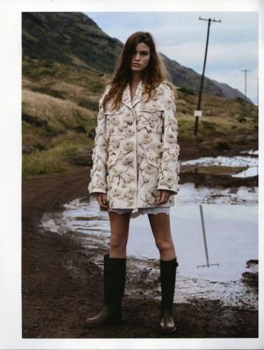 Luna Bijl by Benny Horne for Vogue Russia