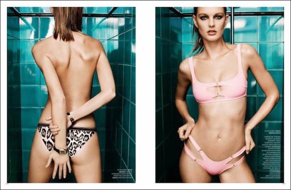 Patricia Van Der Vliet by Agata Pospieszynska for Harper's Bazaar Russia