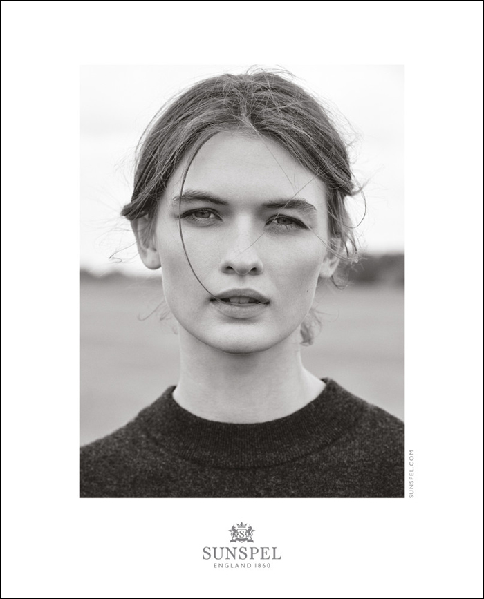 Lara Mullen by Bruno Staub for Sunspel