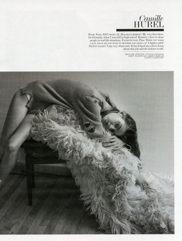 Camille Hurel by Mario Sorrenti for Interview Magazine