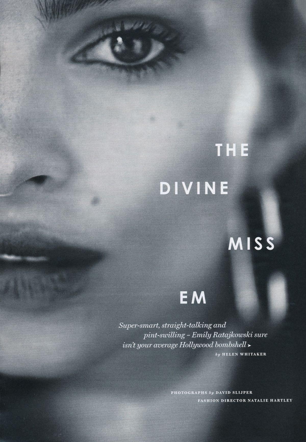 Emily Ratajkowski by David Slijper for Glamour UK