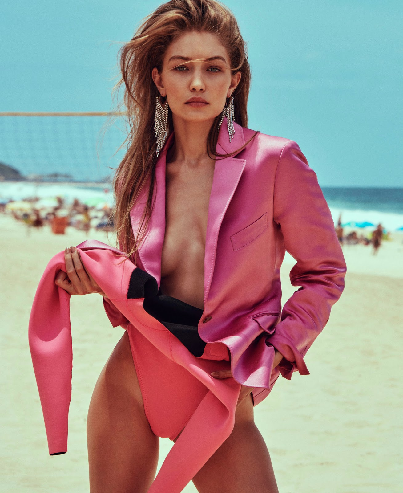 Gigi Hadid by Chris Colls for Elle, March 2019