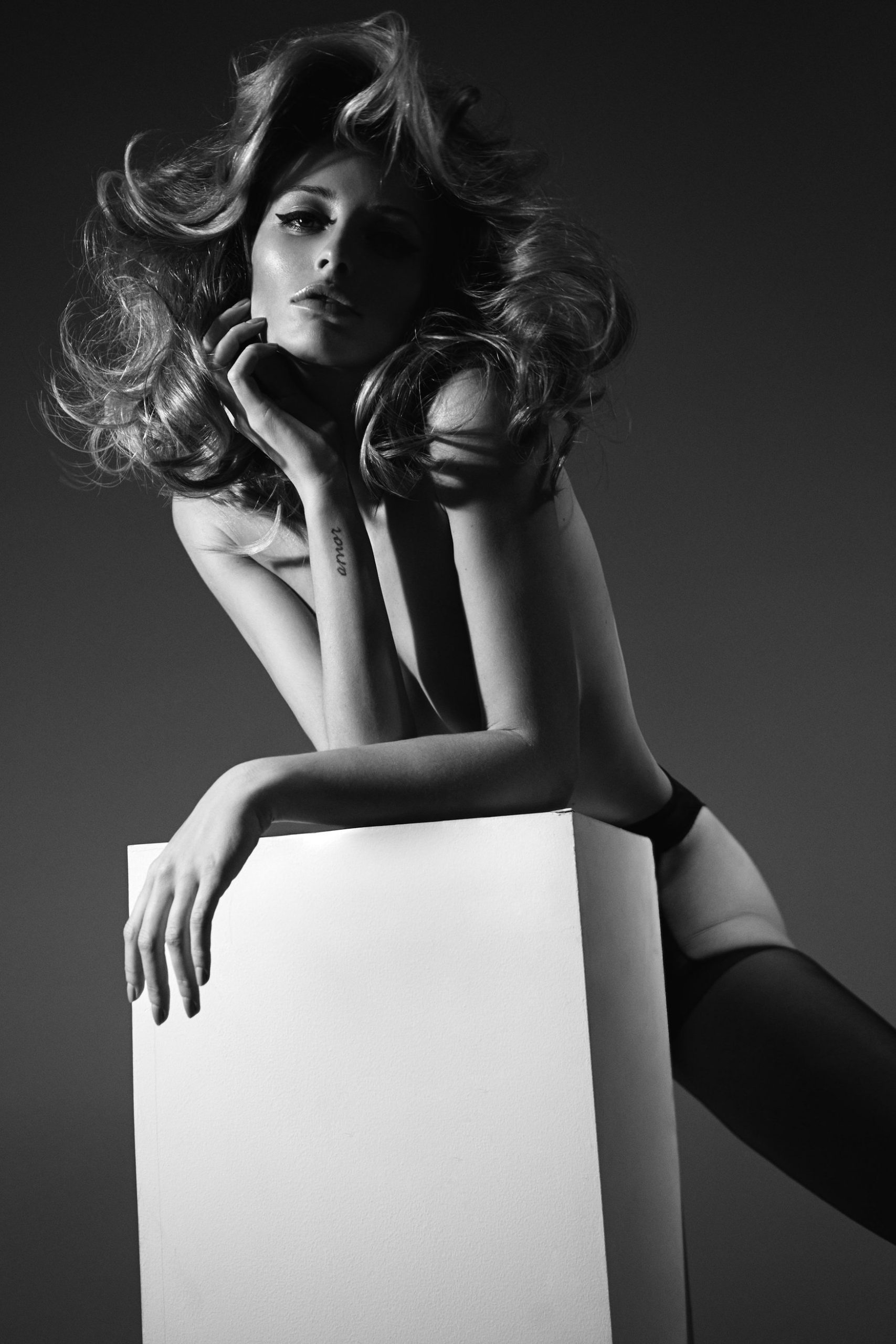 Flavia Lucini wears next-to-nothing for Leonardo Corredor.