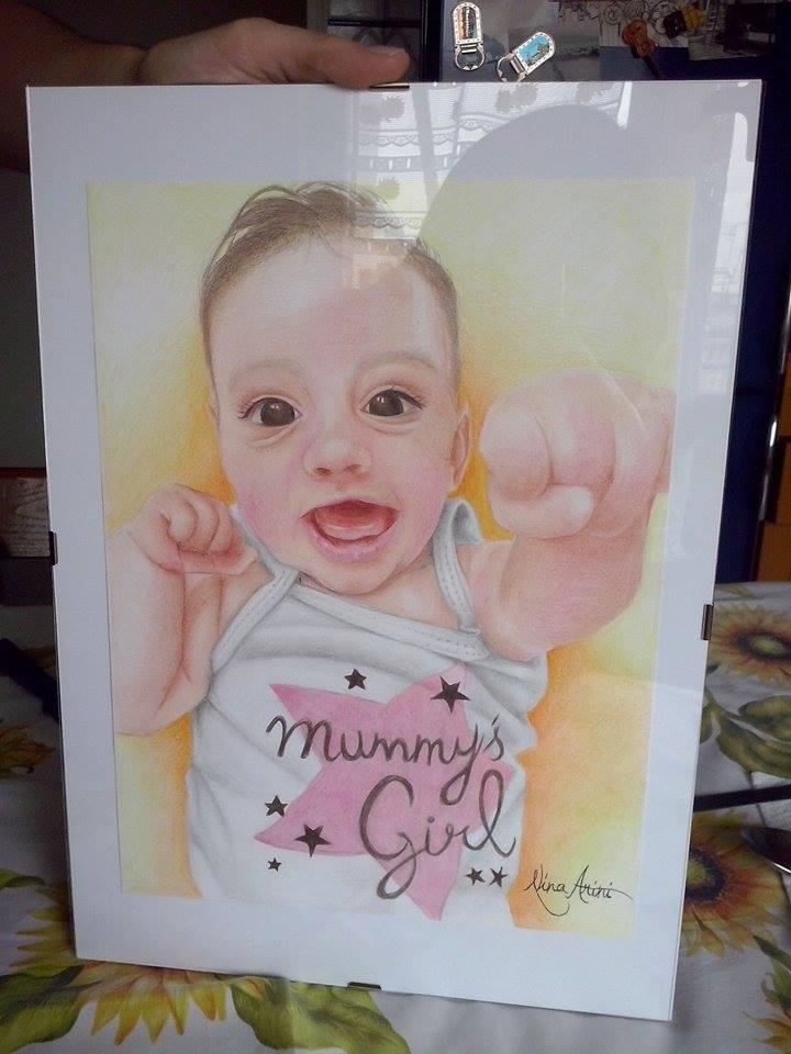 ritratti da foto su commissione - Baby Chiara