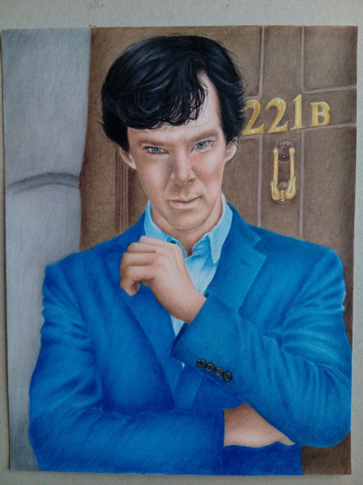 ritratti da foto su commissione - Sherlock