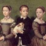 sofonisba anguissola-tre bambini con cane