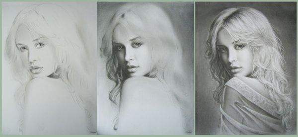 Портрет на заказ с натуры или фотографии в технике Сухая кисть