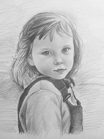 Портреты детей карандашом