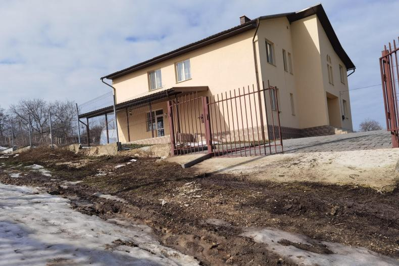 Chris and Zoe Lomas, who started Havant-based charity Reach My Street, have upped their entire lives and relocated to Moldova to help orphaned children. Pictured: Their new home in Pohrebeni, Moldova