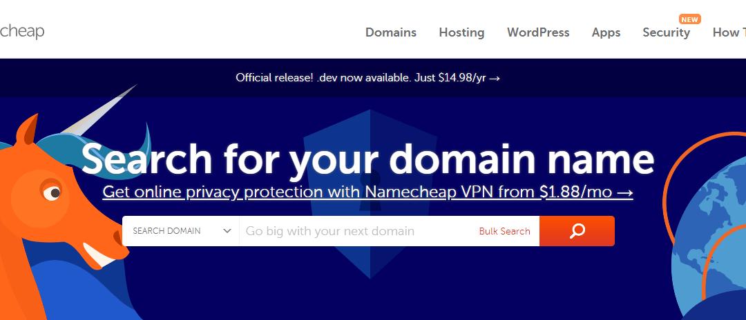 Códigos de desconto Namecheap – Março de 2019