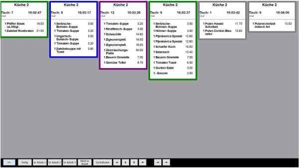 Küche Kasse, E+S Kassensysteme, Kassensoftware