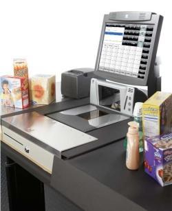 Scannerkasse für den Lebensmittelhandel