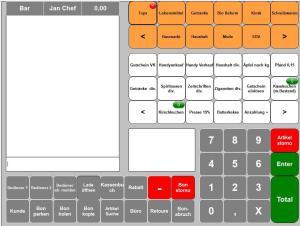 Maxstore Kassensoftware Handel mit Bonfenster