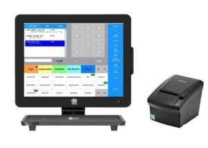 E+S Kassensysteme , Touchkasse mit Kassensoftware und Bondrucker